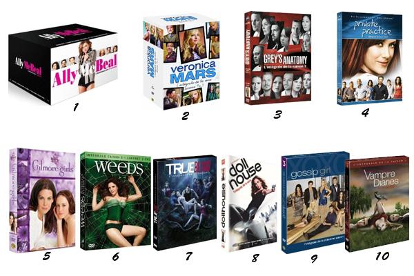 Sélection de DVD séries pour Noel