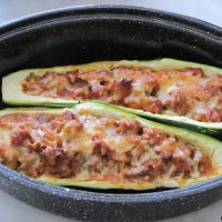 Courgette farcie bolognese