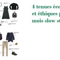 4 tenues écologiques et éthiques pour un mois slow stylé