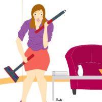 Le grand ménage de printemps : dans l'entrée, le couloir, la pièce à vivre, le bureau