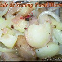 Recette à préparer en avance : salade de Hareng Fumé Mariné