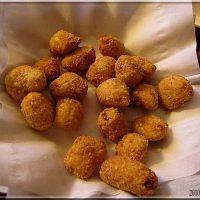 Recette à préparer en avance : Nuggets de poulet au curry et panure amande.