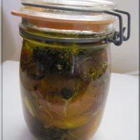 Recette à préparer en avance : Fromage de chèvre au jambon, mariné à l'huile d'olive