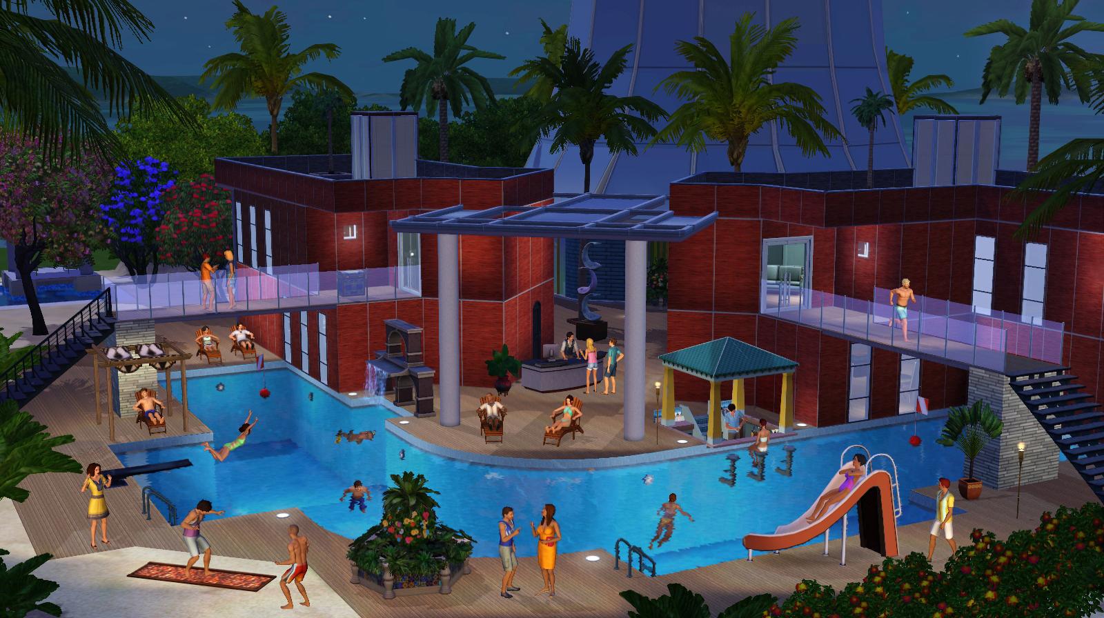 Test les sims 3 le de r ve so what for Sims 4 piscine a debordement