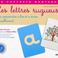 Les lettres rugueuses, Les coffrets Montessori - Eyrolles jeunesse