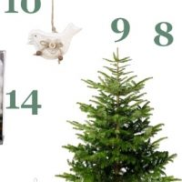 Déco de sapin de Noël tout en blanc
