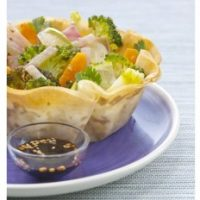 Fine tartelette croustillante de brick au Crunchy Tahini et ses légumes d'automne rôtis à l'Orientale