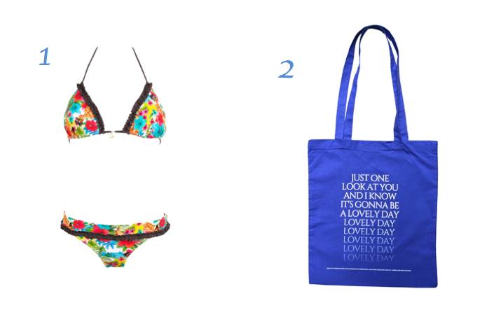 Un maillot de bain et un sac pour la plage