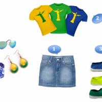 Un look aux couleurs du Brésil pour la coupe du Monde