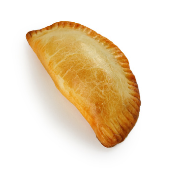 empanada, meat pie on white background