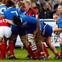 Portrait de Gaëlle Mignot Capitaine de France Féminines Rugby