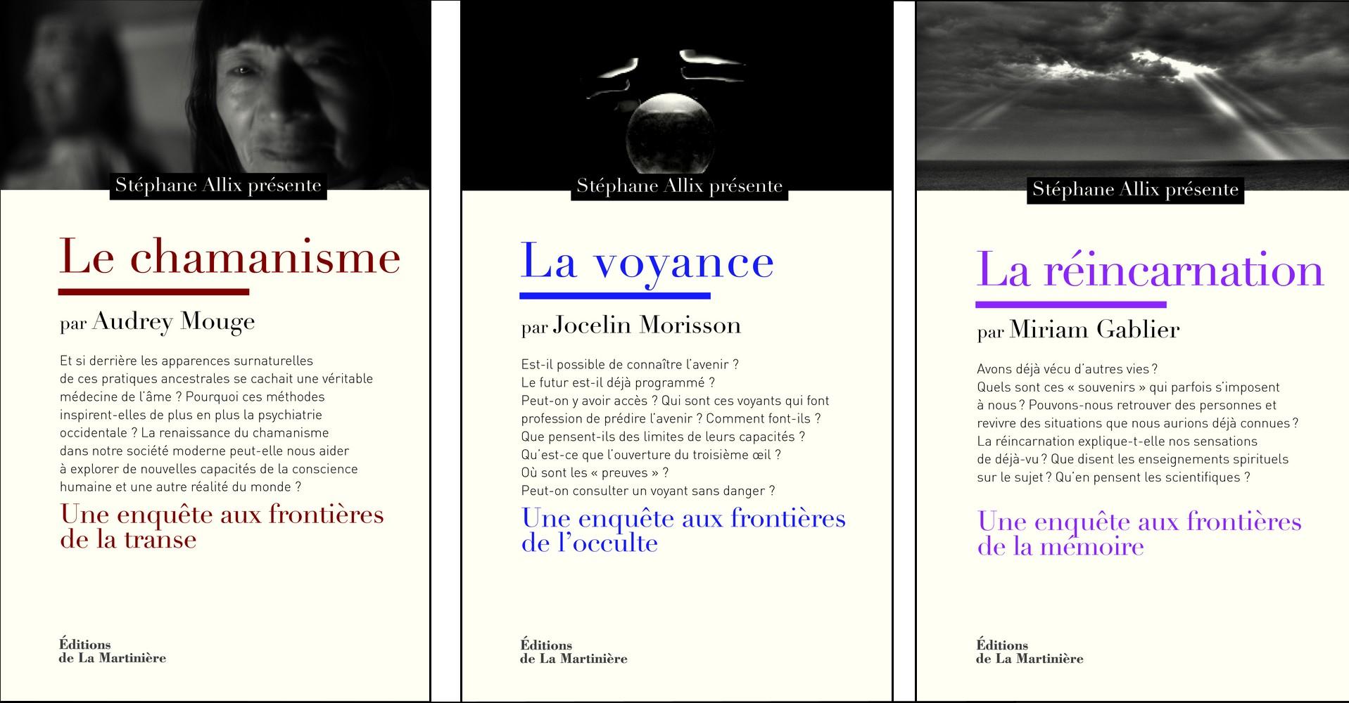 Collection phénomènes inexpliqués ed La Martinière