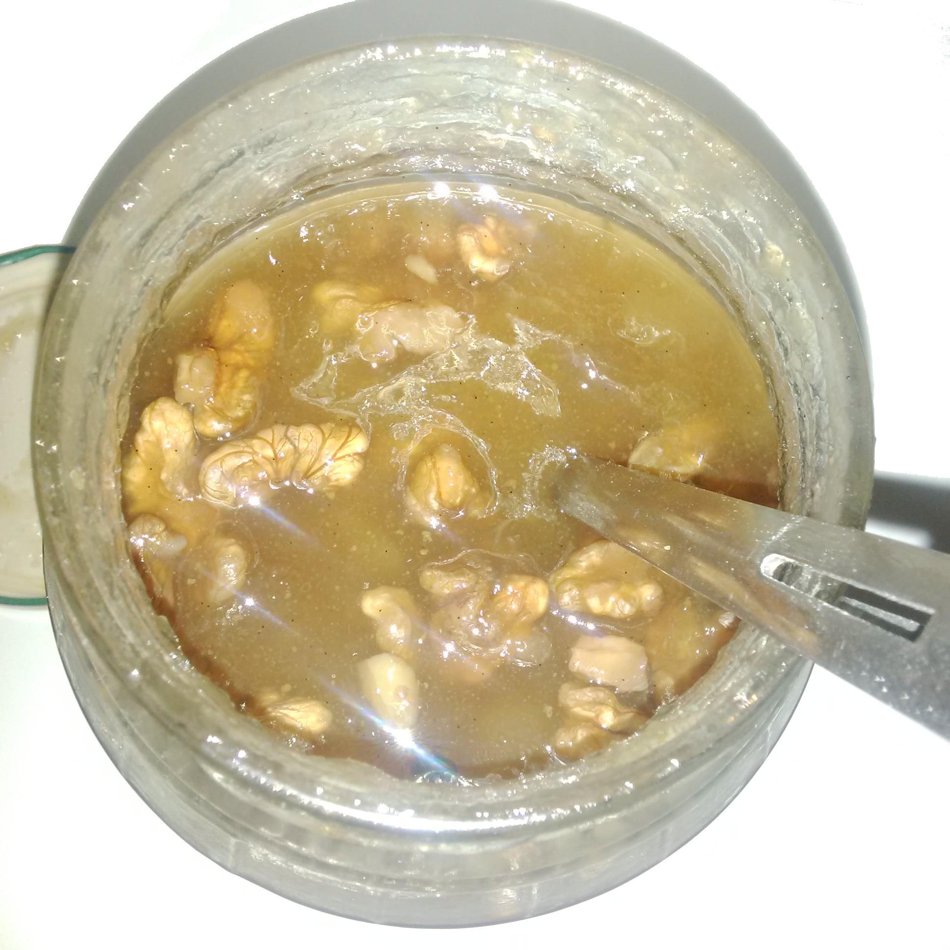 Confiture maison poires noix vanille