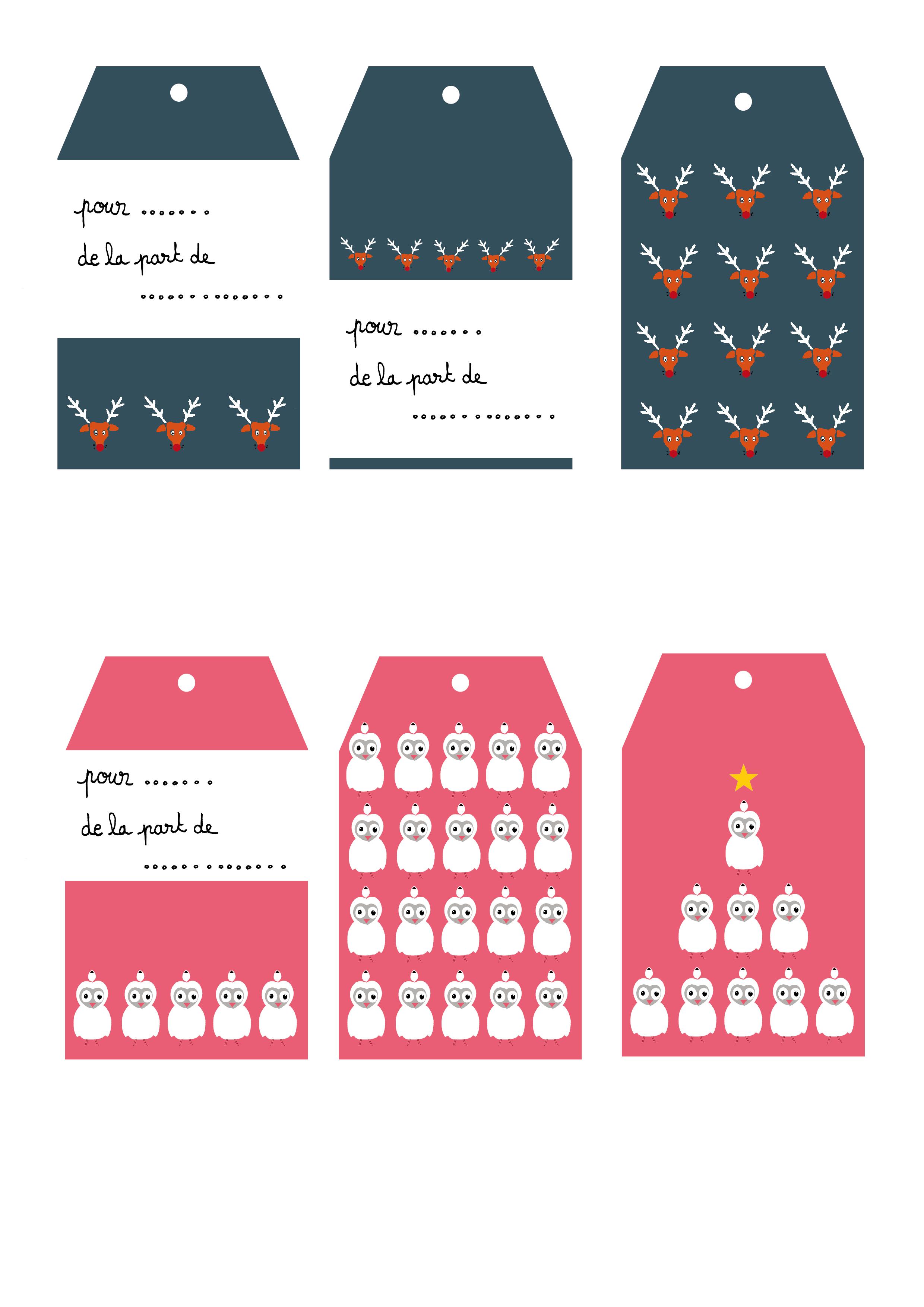 Etiquettes a imprimer cadeaux noel