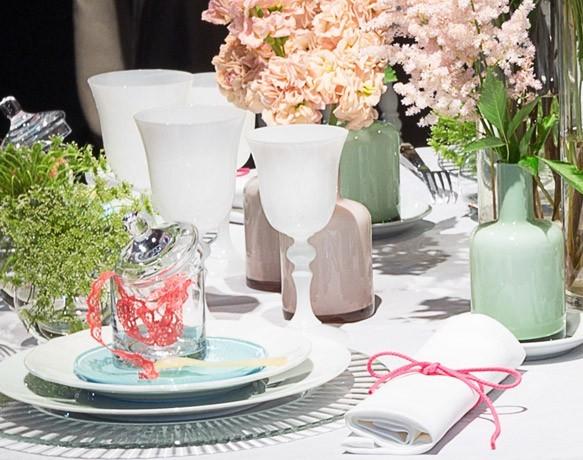 Déco table romantique pastel