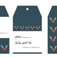Étiquettes cadeaux à imprimer par Louise Maudet pour So What?