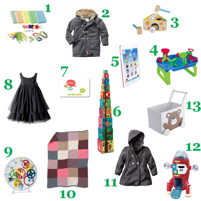 Sélection cadeaux de Noël 2014 vertbaudet