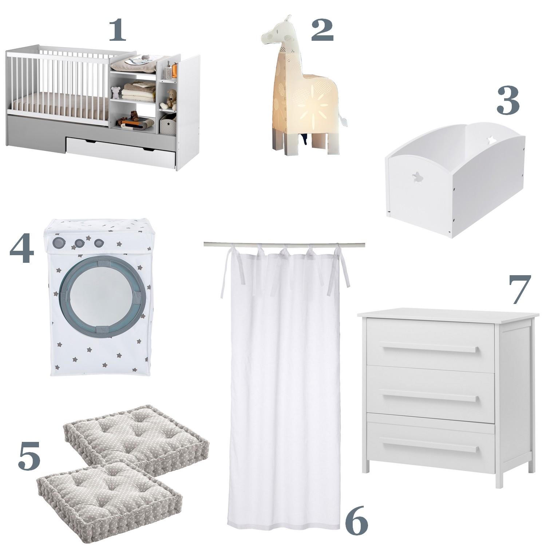 Chambre bébé blanc et pastel vertbaudet