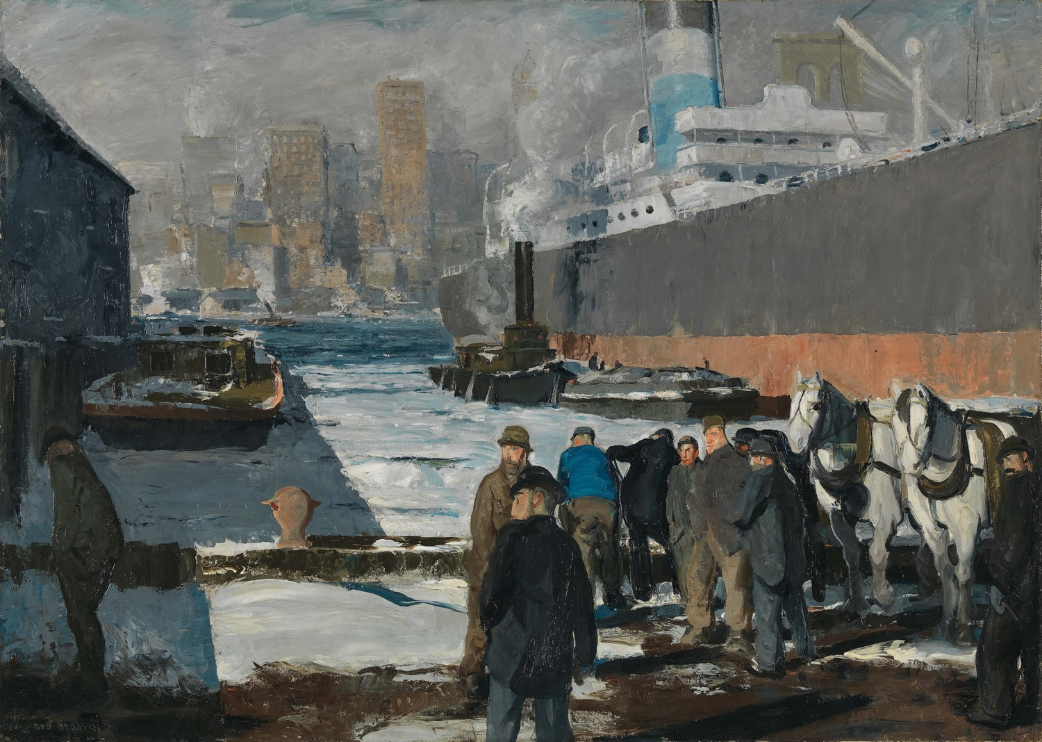 Tableau Men of the Docks by G Bellows © National Gallery