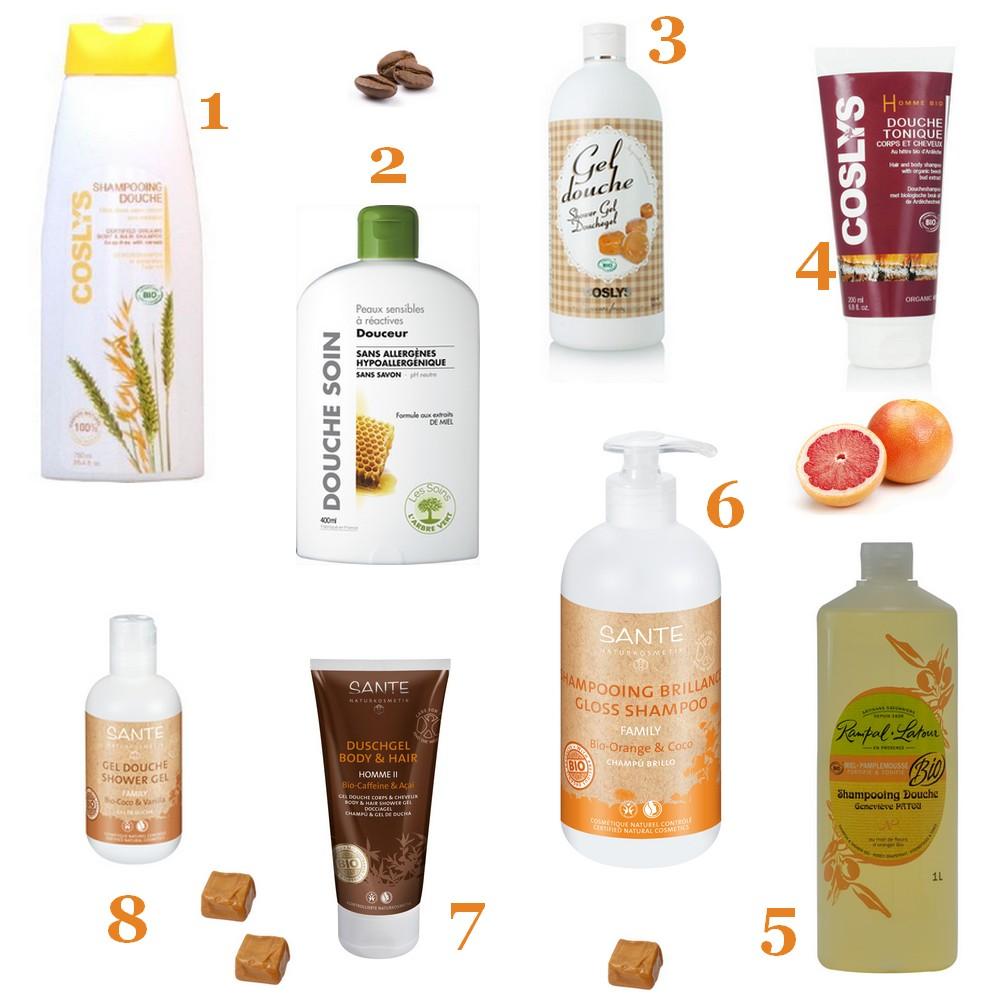 Sélection douche shampoing bio
