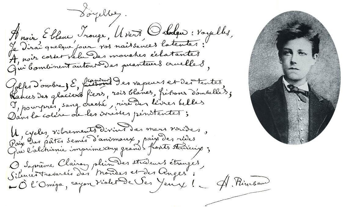 poème Arthur Rimbaud et photo