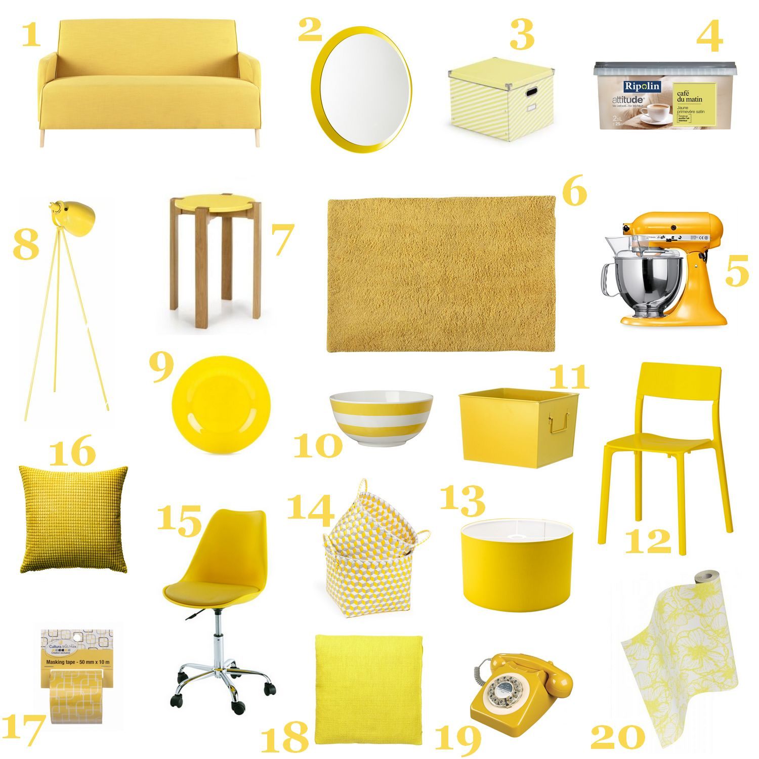 du jaune dans ma d co so what. Black Bedroom Furniture Sets. Home Design Ideas