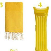 Sélection plage tout en jaune