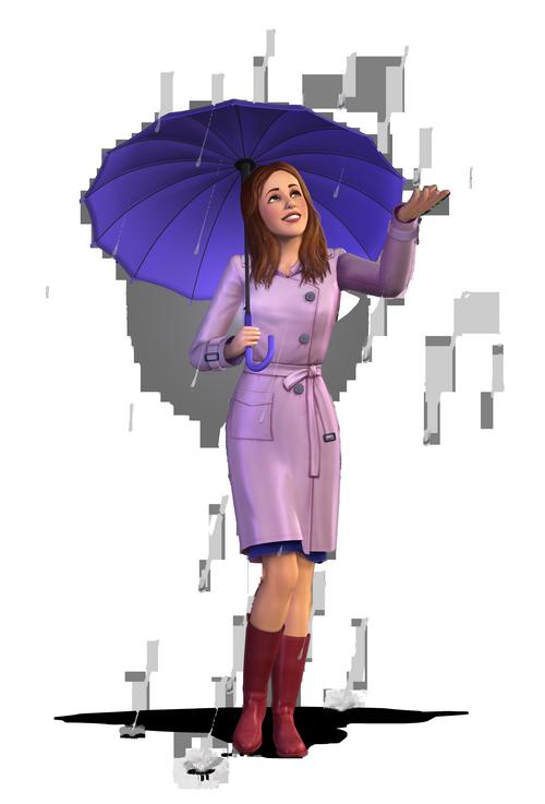 Les Sims 3 simette parapluie