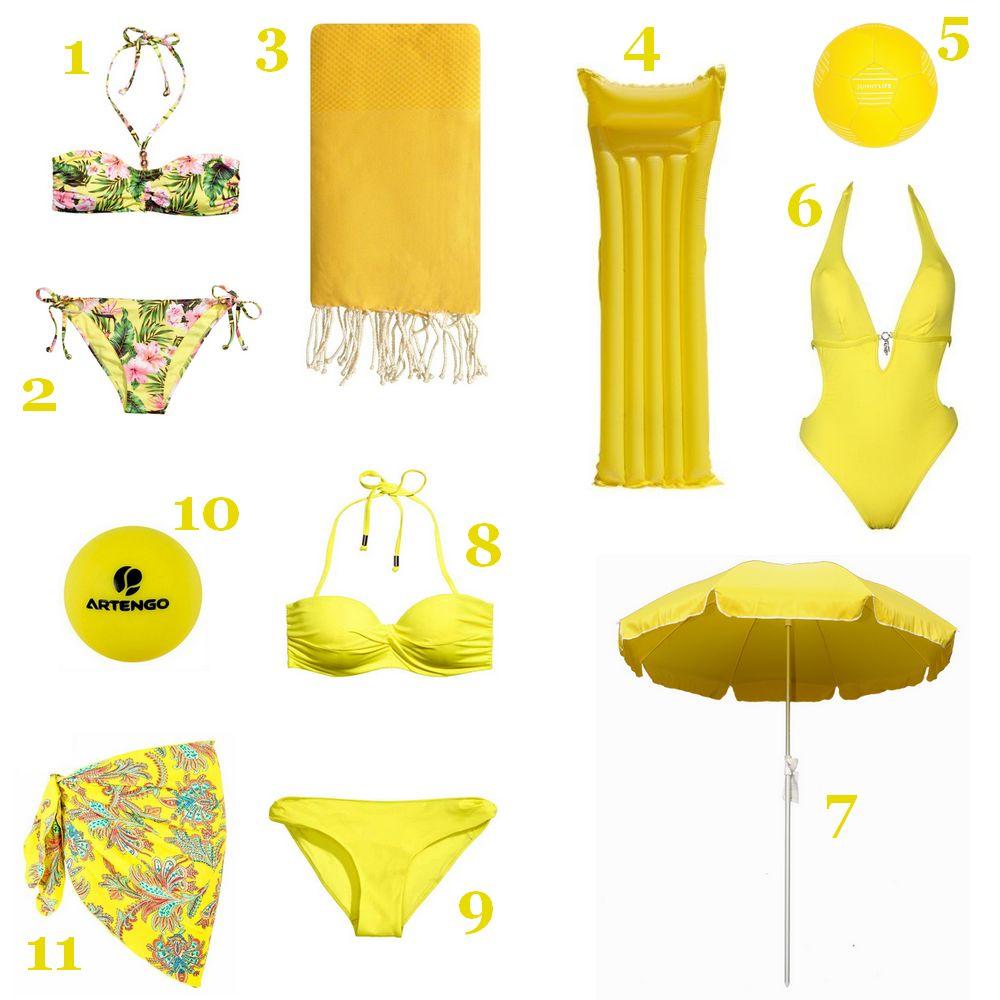Sélection plage jaune
