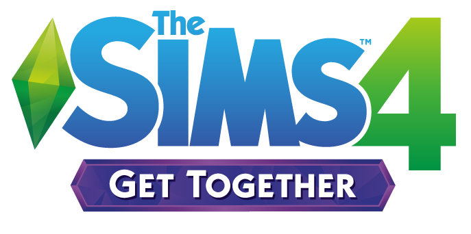 Les Sims 4 Vivre ensemble logo angl