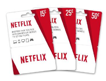 Carte cadeau Netflix