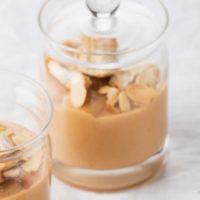 Petits pots de crème aux caramels d'Isigny, toppings croquants