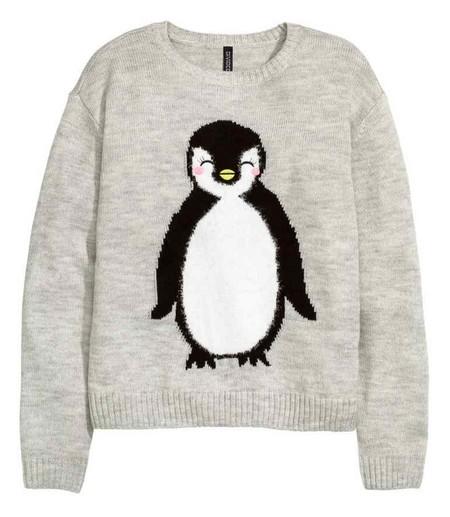 pull de Noël pingouin H&M