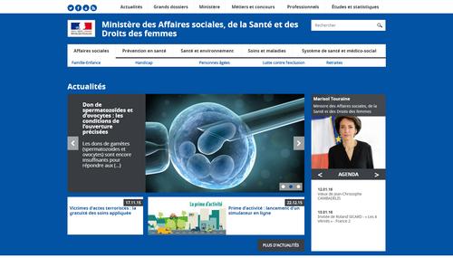 Capture site Ministère des Affaires sociales