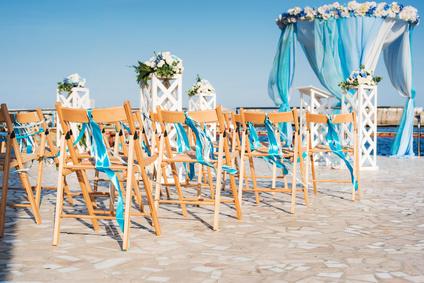 décoration mariage bleu aqua