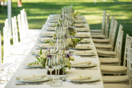 mariage tables banquet campagne chic