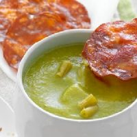 Soupe de haricots verts au chorizo