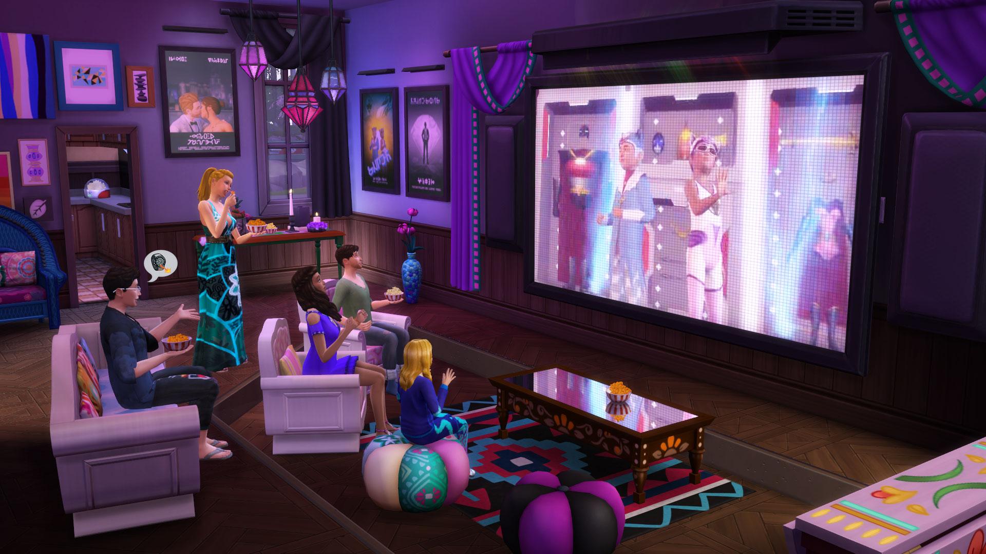 Les Sims 4 Comme au cinéma 1