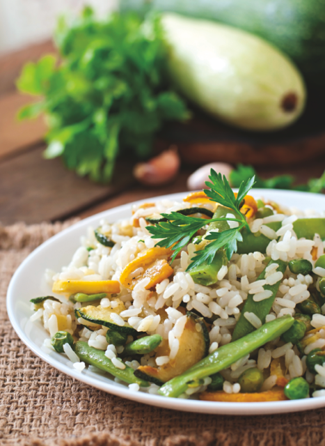 Risotto de légumes verts