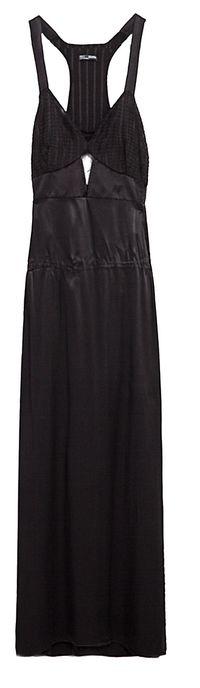 Robe longue en dentelle Zara