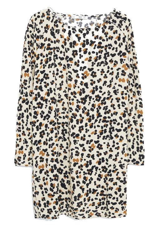Robe imprimé léopard Mango