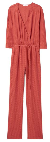 Combinaison pantalon texturée Mango