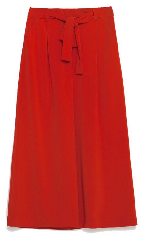 Pantalon fluide rouge Zara
