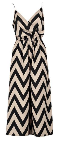 Combinaison pantalon imprimé zigzag Boohoo