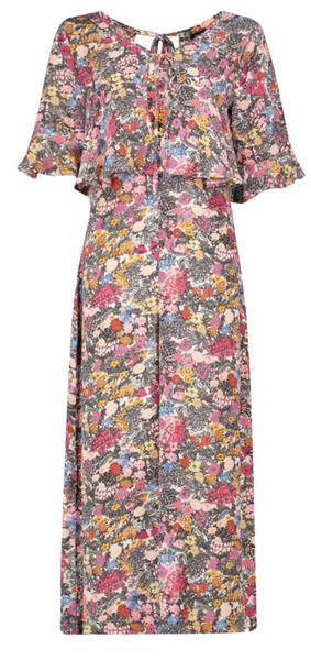 Combinaison culotte à volants imprimé floral Boohoo