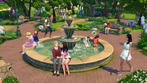 Les Sims 4 Jardin romantique 1