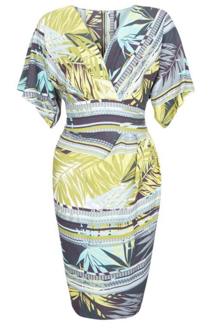 Robe motif tropical New Look