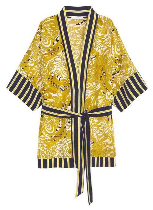 Veste kimono à motif H&M