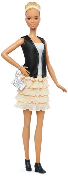 Barbie Tall Leather Ruffles