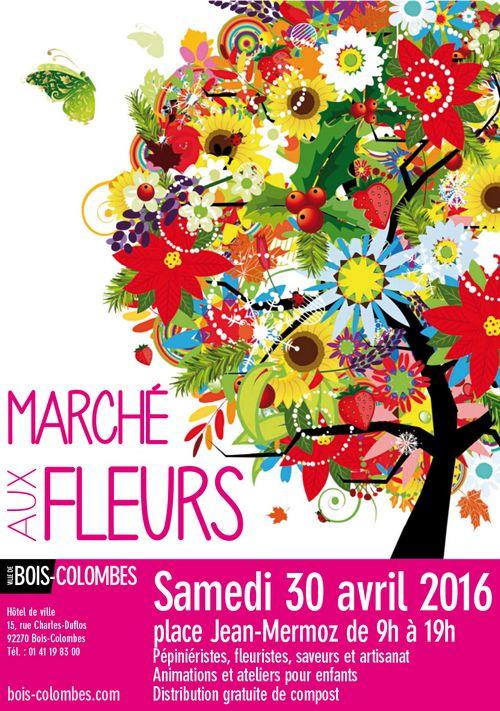 Marché aux fleurs Bois-Colombes